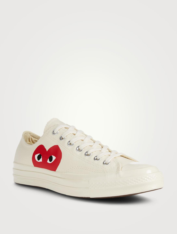 51a517483 ... COMME DES GARÇONS PLAY Converse x CDG PLAY Chuck Sneakers Men s Neutral  ...