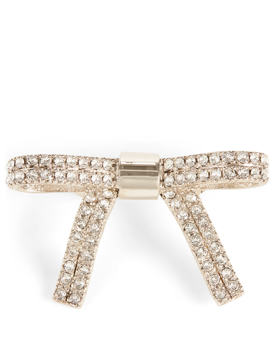 MIU MIU Barrette With Crystals Womens Silver