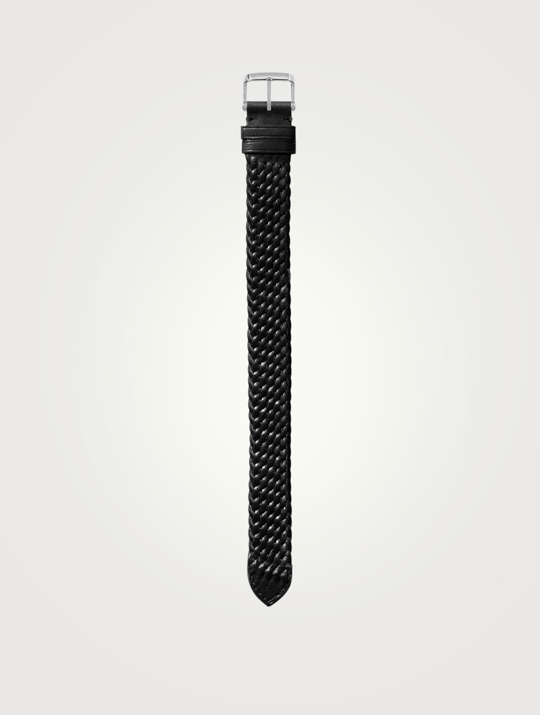 TOM FORD Medium Braided Leather Watch Strap Womens Black