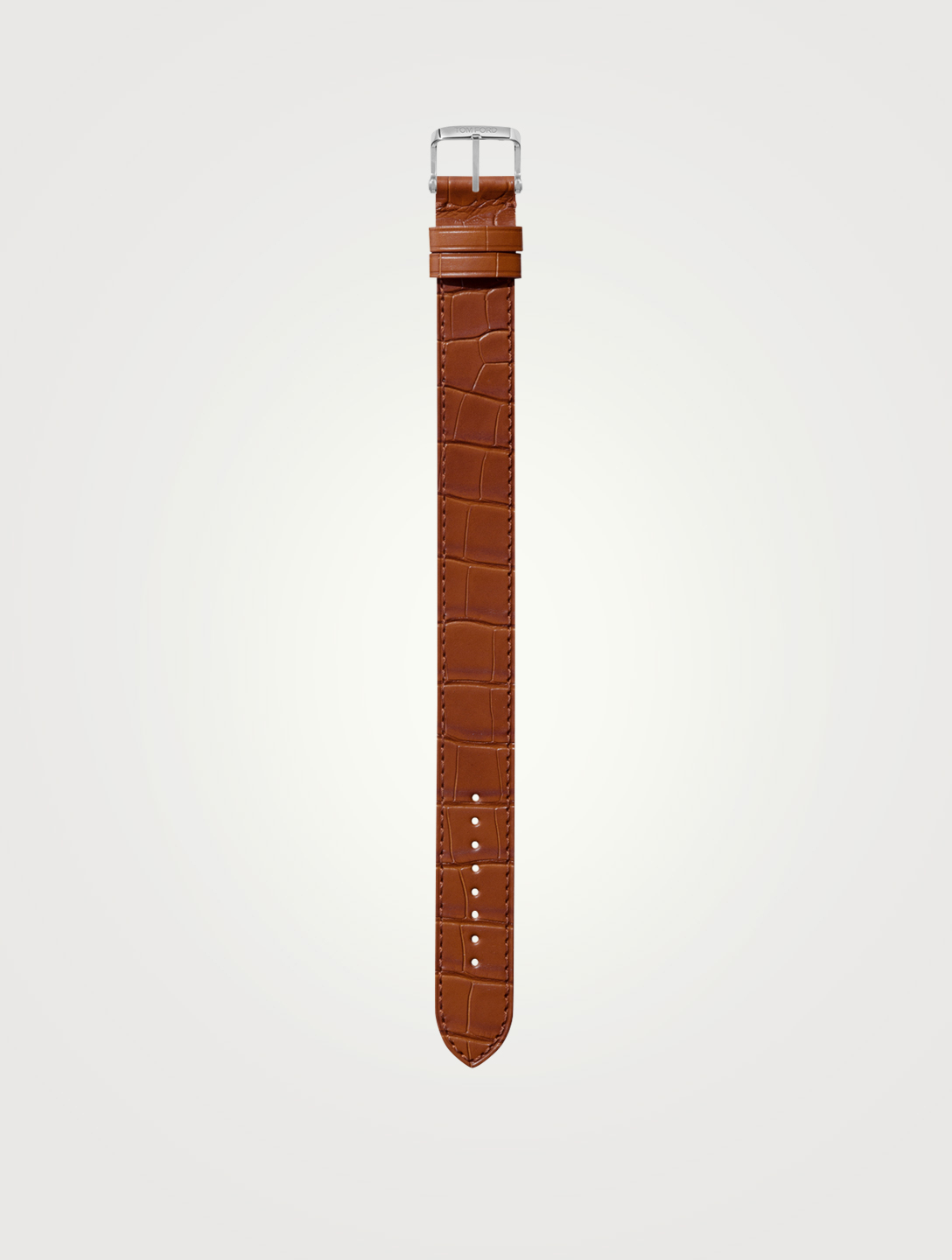 TOM FORD Bracelet en alligator, format moyen, 19 mm Hommes Marron