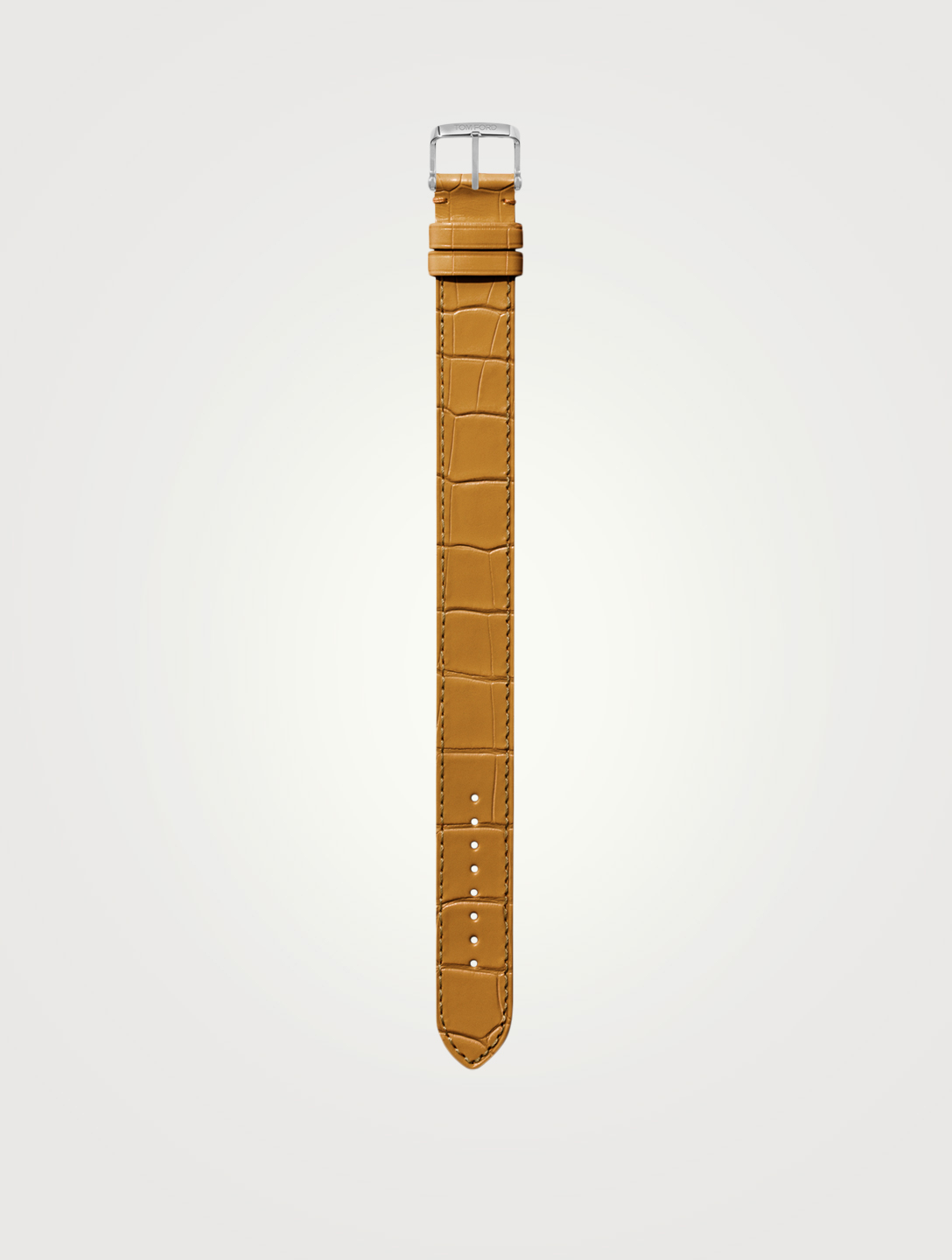 TOM FORD Medium Alligator Watch Strap Womens Yellow