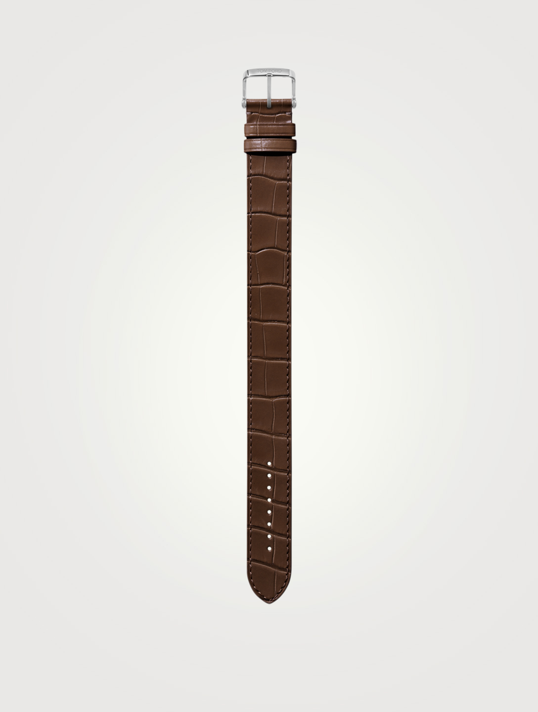 TOM FORD Large Alligator Watch Strap Womens Brown