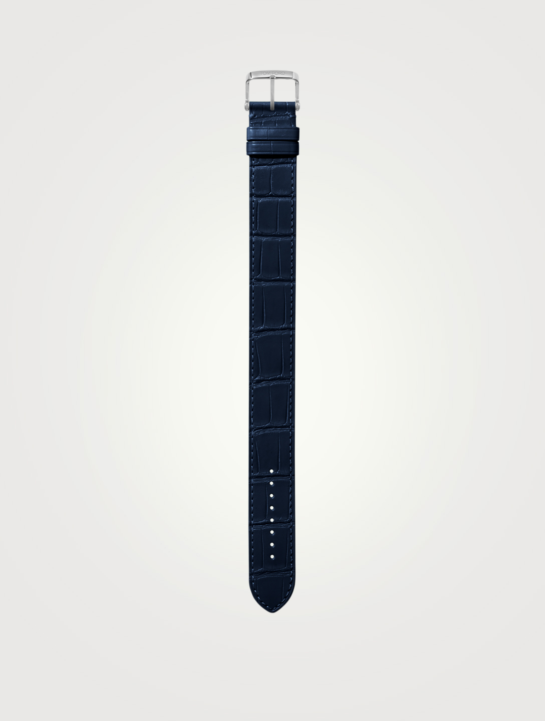 TOM FORD Large Alligator Watch Strap Womens Blue