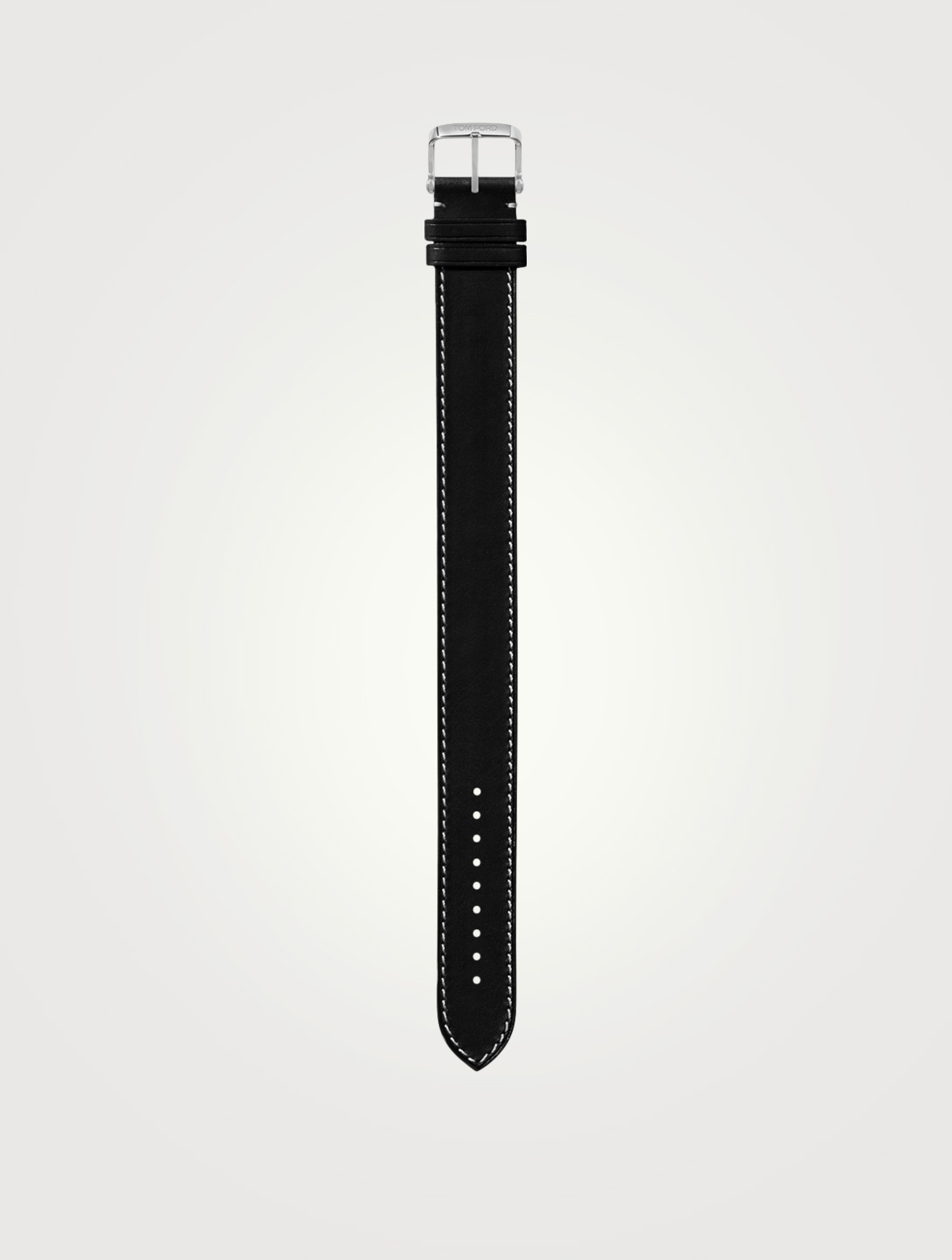 TOM FORD Large Leather Strap, 21mm Men's Black