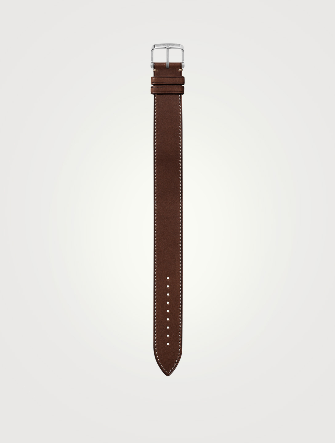 TOM FORD Bracelet de montre en cuir, format grand Femmes Marron