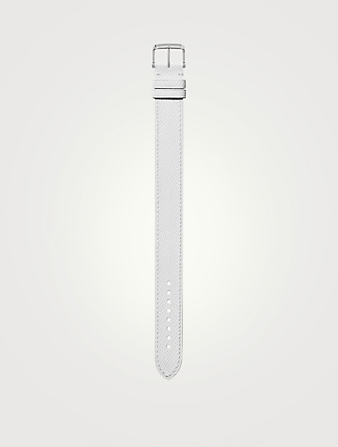 TOM FORD Medium Pebble Leather Watch Strap Womens White