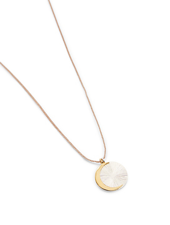 IZA JEWELRY Eclipse Sterling Silver And 18K Gold-Plated Pendant Necklace H Project Pink