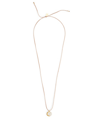 IZA JEWELRY Small Eclipse Sterling Silver And 18K Gold-Plated Pendant Necklace H Project Pink