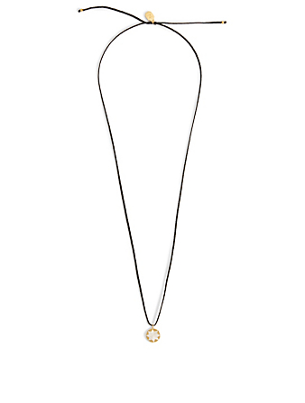 IZA JEWELRY Small Dawn + Dusk 18K Gold-Plated And Sterling Silver Pendant Necklace H Project Black