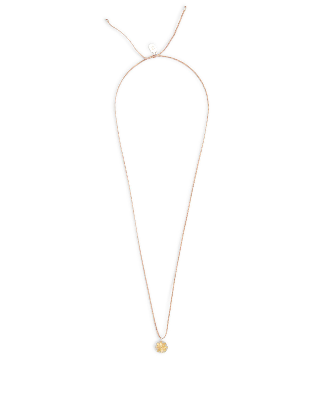 IZA JEWELRY Small Dawn + Dusk 18K Gold-Plated And Sterling Silver Pendant Necklace H Project Pink