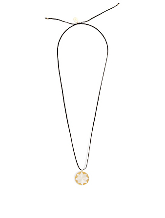IZA JEWELRY Dawn + Dusk 18K Gold-Plated And Sterling Silver Pendant Necklace H Project Black