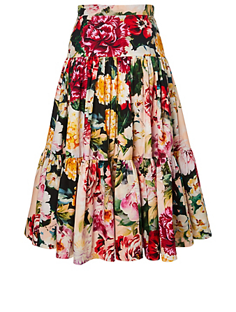 DOLCE & GABBANA Youth Skirt In Floral Print Kids Multi