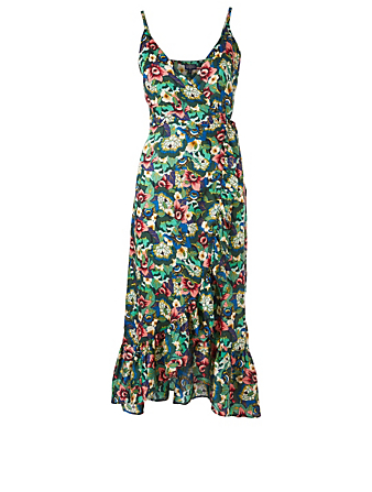 TAMGA Adinda Wrap Dress In Floral Print H Project Multi