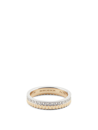 BOUCHERON Radiant Edition Quatre Gold Wedding Band With Diamonds Women's Gold