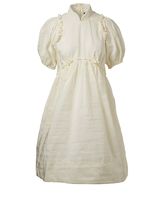 SIMONE ROCHA Babydoll Dress With Puffed Sleeves Womens Neutral