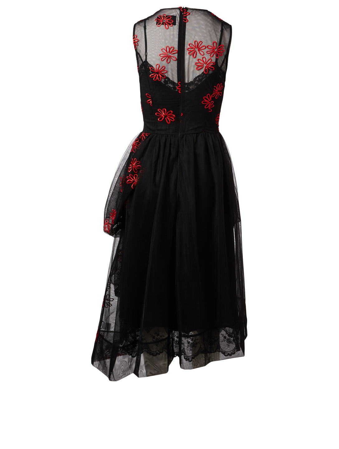 SIMONE ROCHA Tulle Gathered Patchwork Dress Womens Black