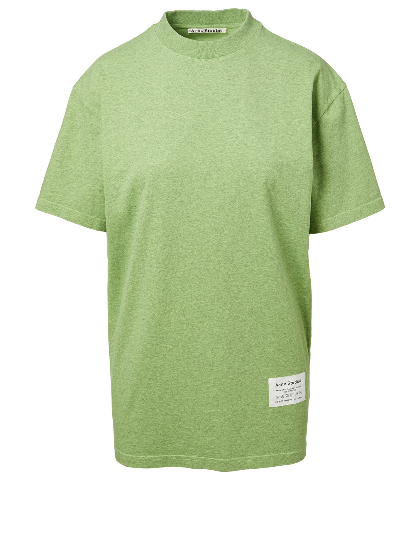 dea79060 ACNE STUDIOS Egoya Mock Neck T-Shirt Women's Green ...
