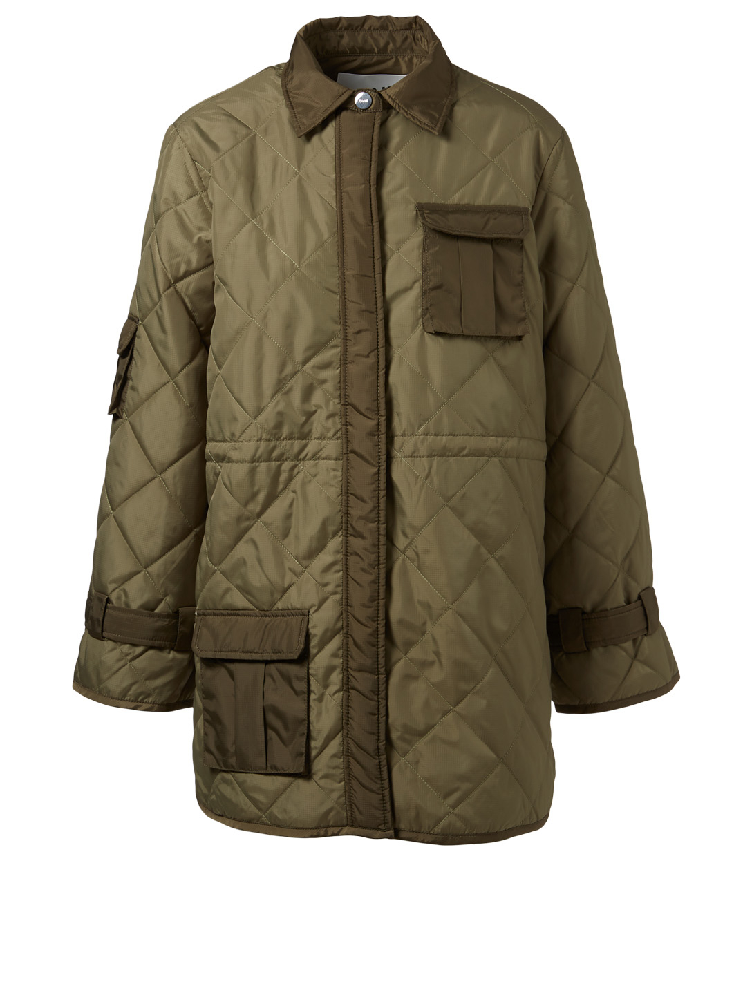 GANNI Ripstop Quilted Jacket Women's Green