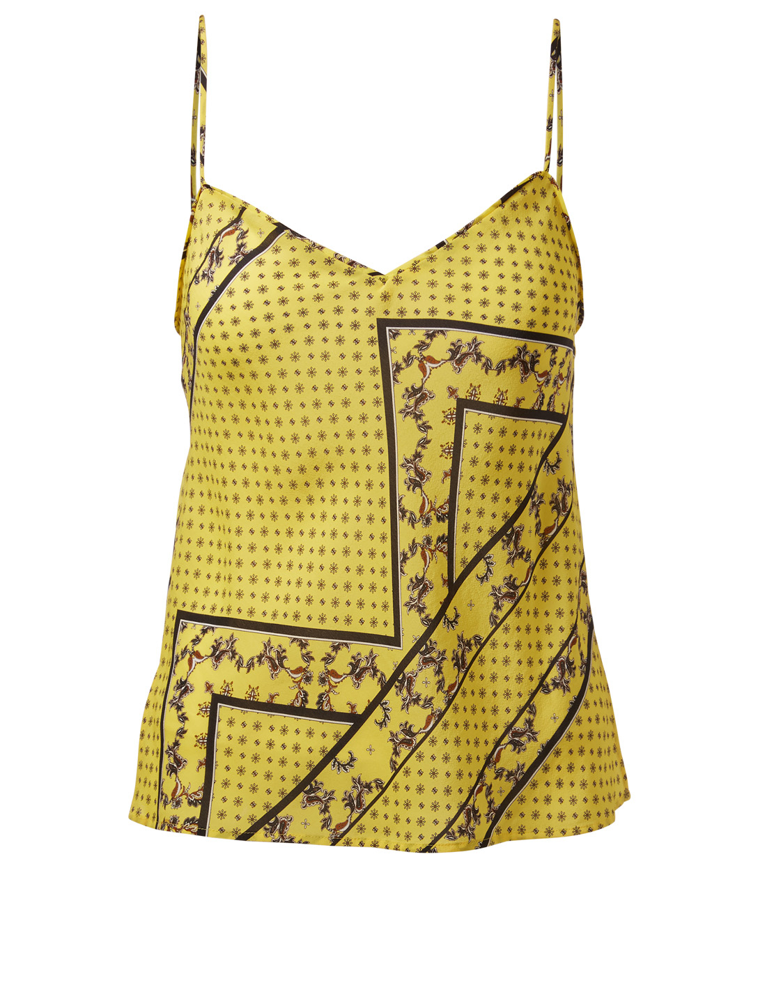 GANNI Hemlock Silk-Blend Blouse Women's Yellow