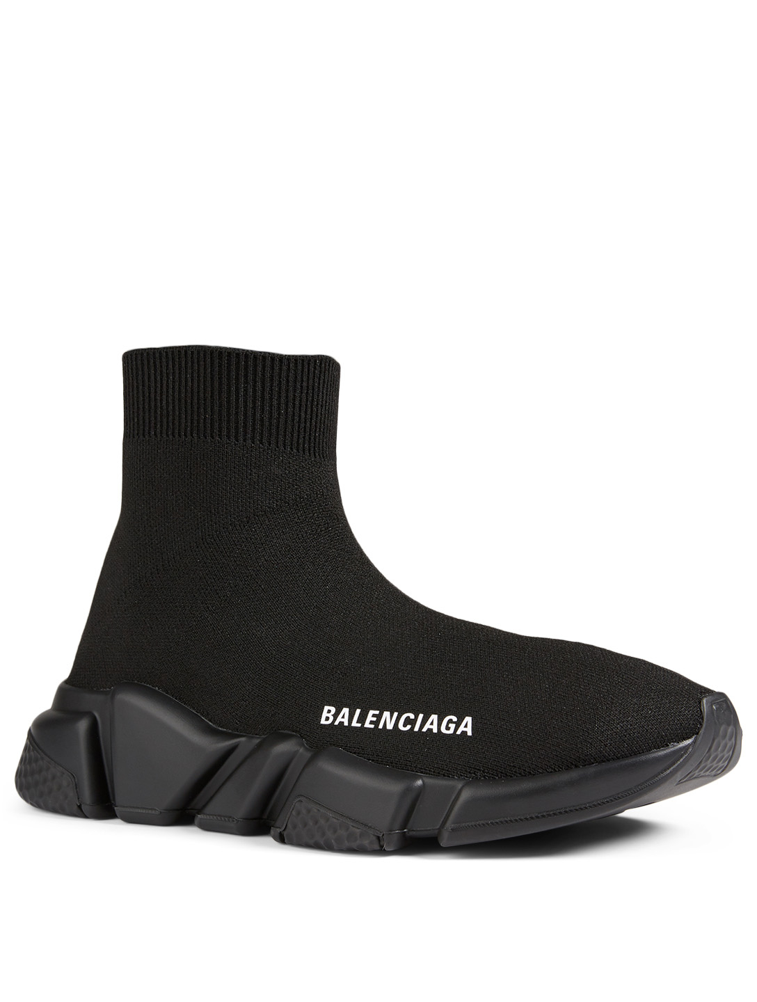 BALENCIAGA Speed High-Top Sock Sneakers Women's Black