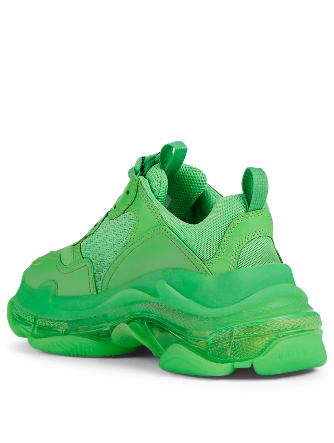a8a8db2ee7fce ... BALENCIAGA Triple S Bubble Mesh And Leather Sneakers Women s Green ...