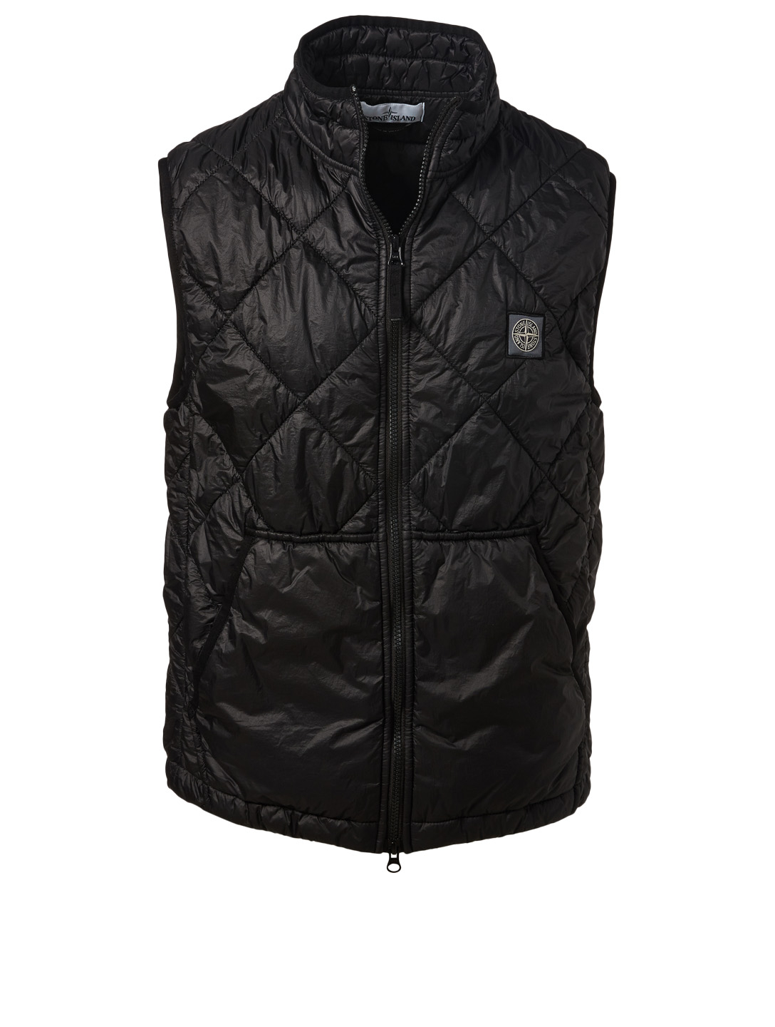 STONE ISLAND Quilted Vest Men's Black