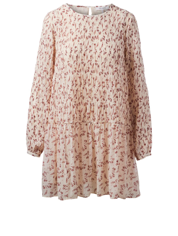 FRAME Smocked Dress In Floral Print   Holt Renfrew