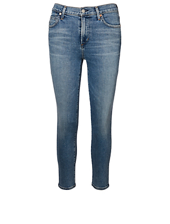 CITIZENS OF HUMANITY Rocket High-Rise Cropped Skinny Jeans Women's Blue