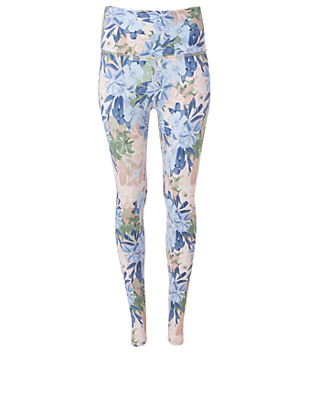 BEYOND YOGA Olympus High Waisted Midi Leggings In Bouquet Floral Print Women's Multi