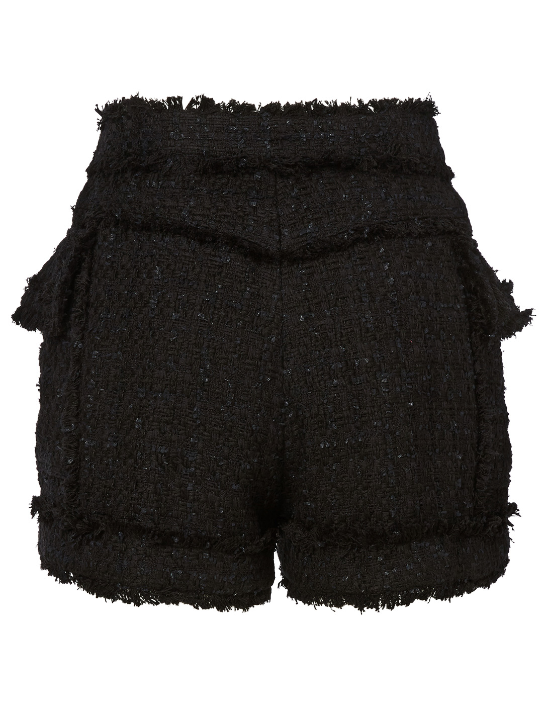 BALMAIN Short en tweed à double boutonnage Femmes