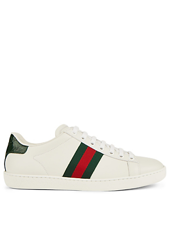 GUCCI Ace Leather Sneakers Women's White