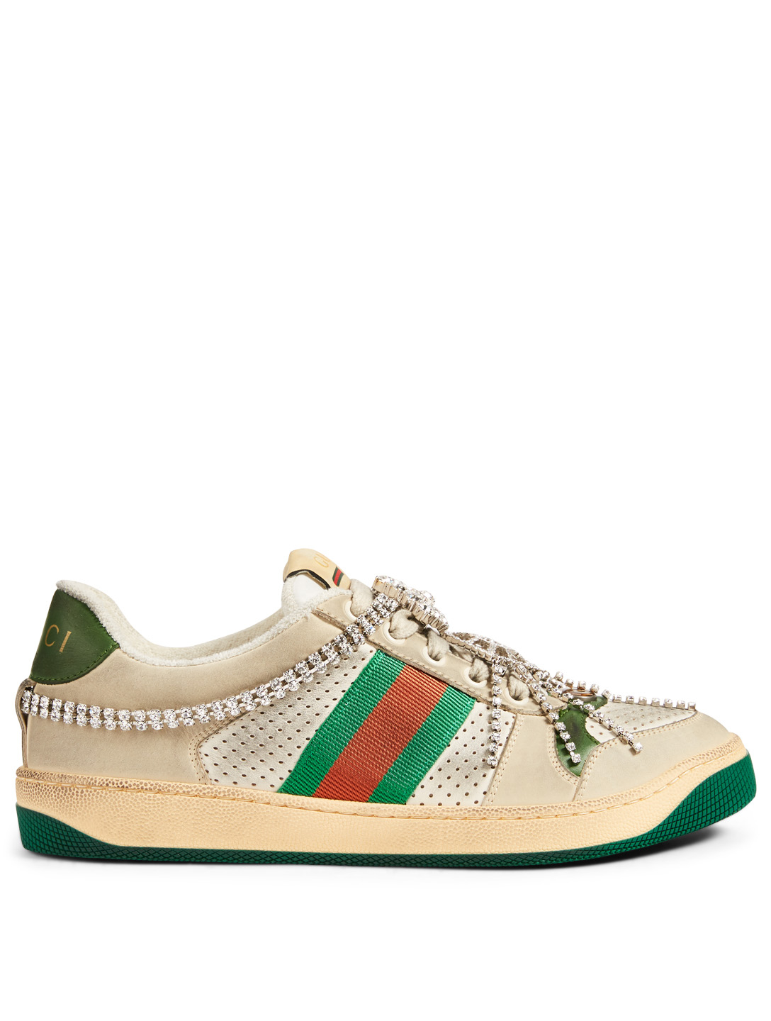 eaf30099aa GUCCI Screener Leather Sneakers With Crystals | Holt Renfrew