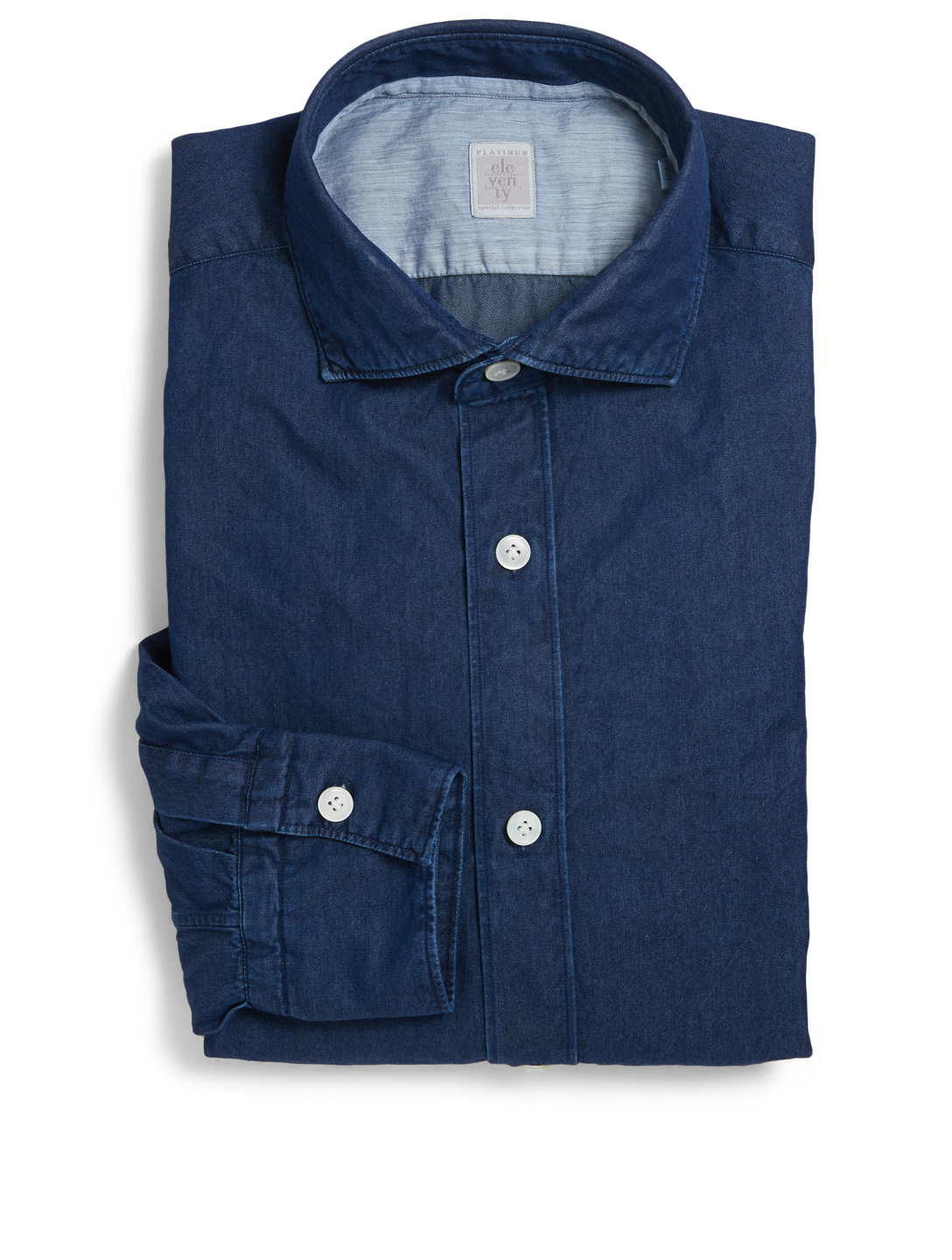 ELEVENTY Dandy Chambray Shirt Men's Blue