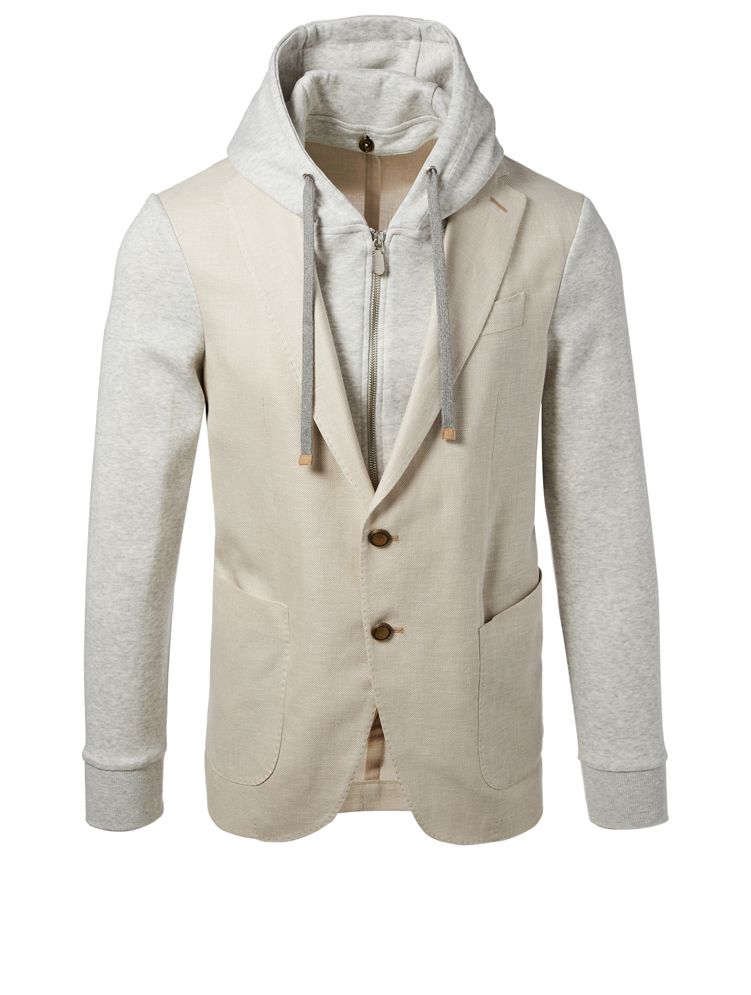 ELEVENTY Jacket With Hood Men's Grey