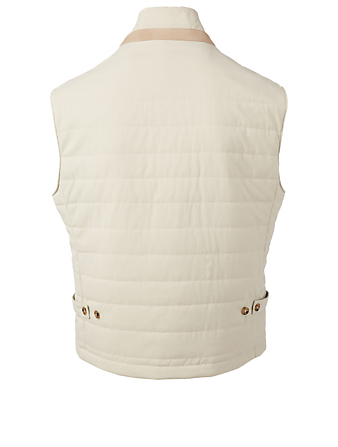 ELEVENTY Quilted Nylon Vest Men's Neutral