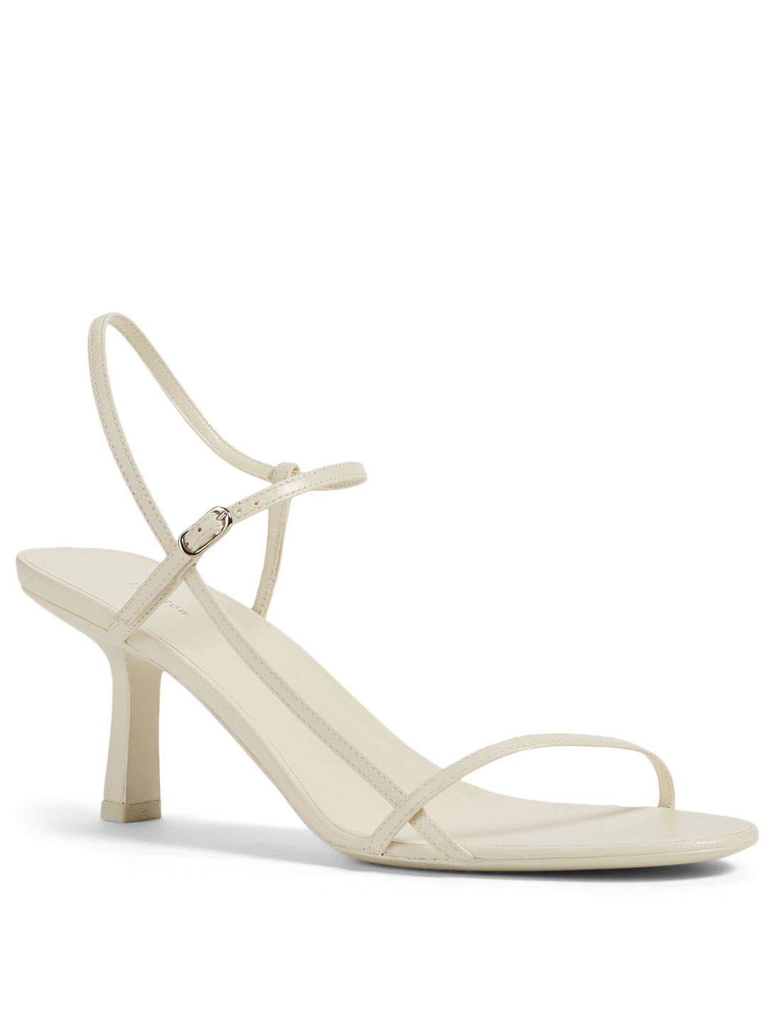 THE ROW Bare Leather Heeled Sandals Women's White
