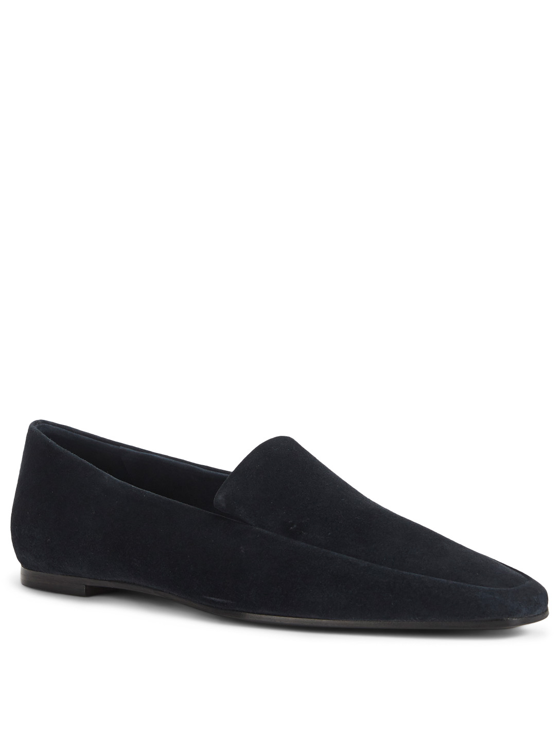 THE ROW Minimal Suede Loafers Womens Blue
