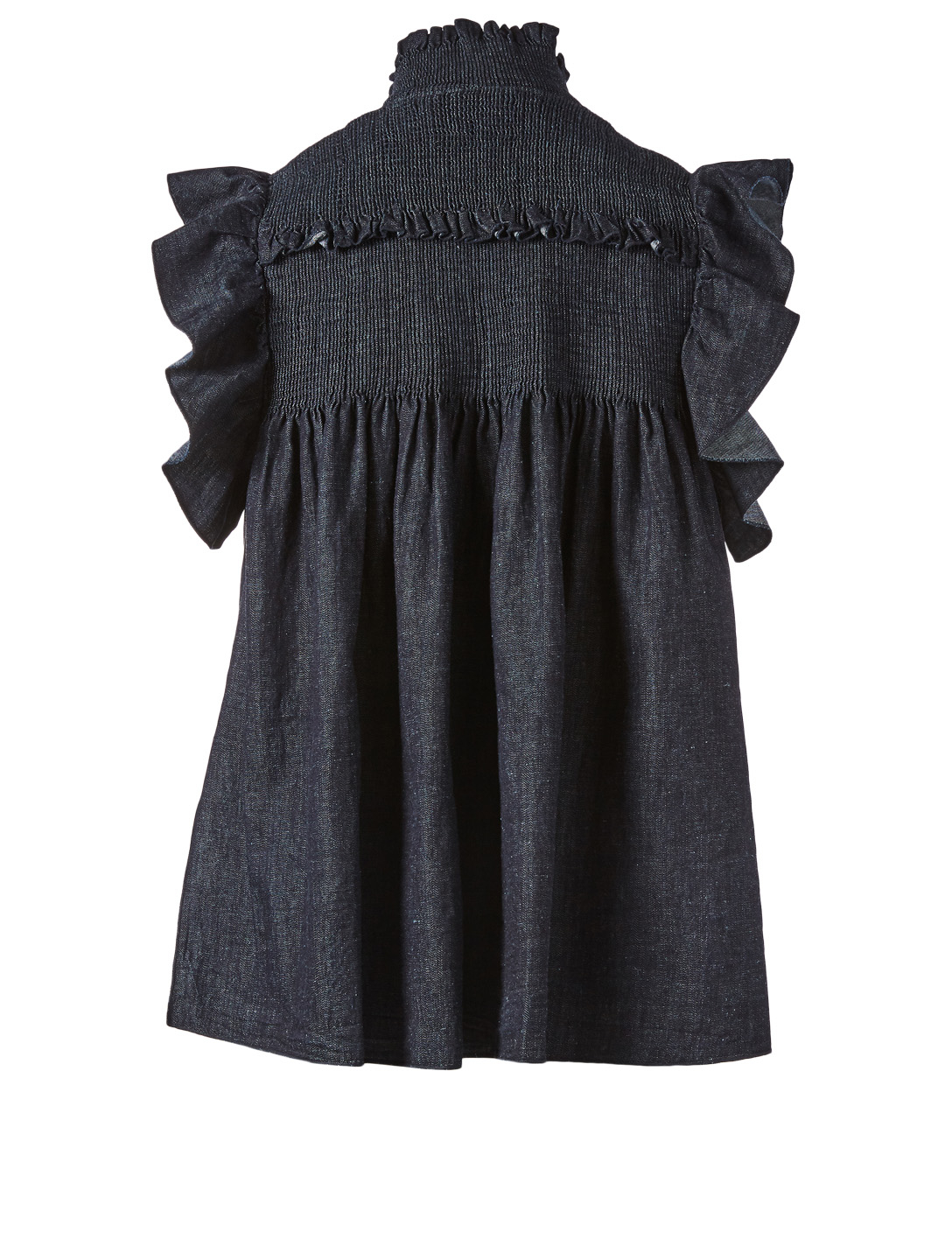 SEE BY CHLOÉ Cotton-Blend Ruffle Top Women's Blue