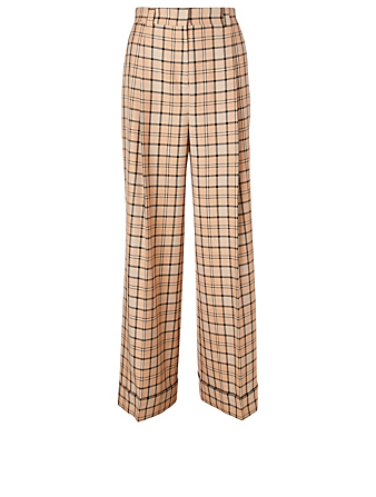 SEE BY CHLOÉ Wide-Leg Pants In Check Print Women's Brown
