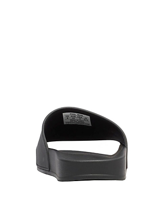 BALENCIAGA Rubber Logo Slide Sandals Men's Black