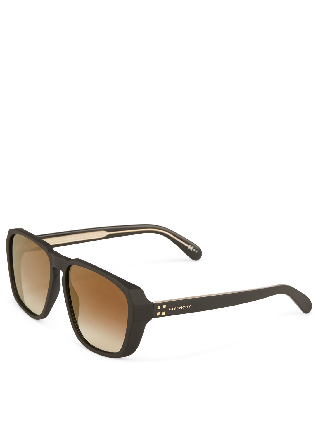 GIVENCHY Square Sunglasses Designers Gold