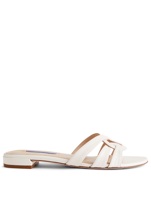 d0850d7a4c33 STUART WEITZMAN Cami Leather Slide Sandals