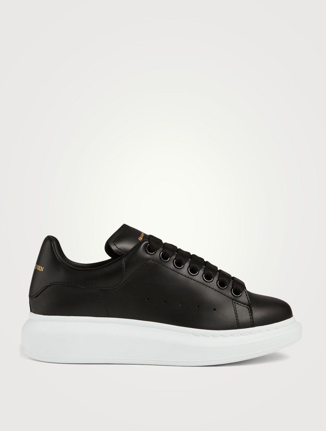 ALEXANDER MCQUEEN Oversized Leather Sneakers Women's Black