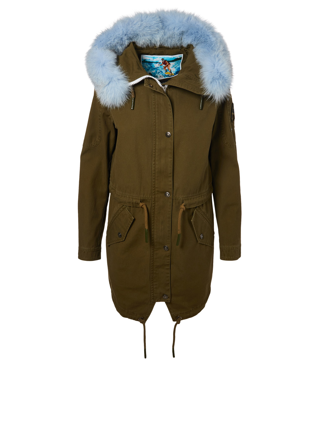 MOOSE KNUCKLES Mainville Parka With Fur Hood Womens Blue