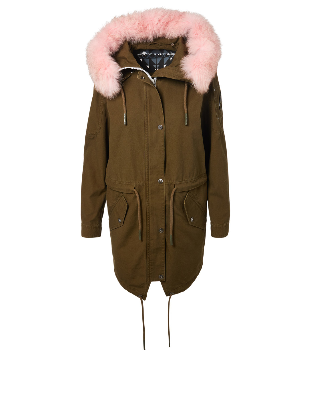 MOOSE KNUCKLES Mainville Parka With Fur Hood Womens Pink