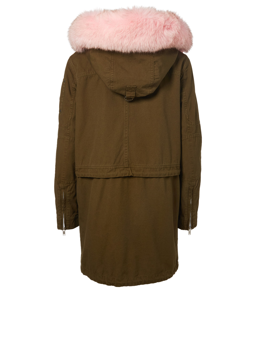 MOOSE KNUCKLES Mainville Parka With Fur Hood Women's Pink