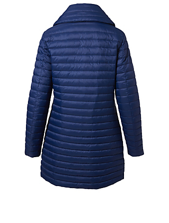 MOOSE KNUCKLES Cremazie Quilted Parka Women's Blue