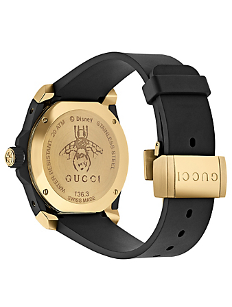 GUCCI CNY Gucci Dive Watch With Rubber Strap Women's Black