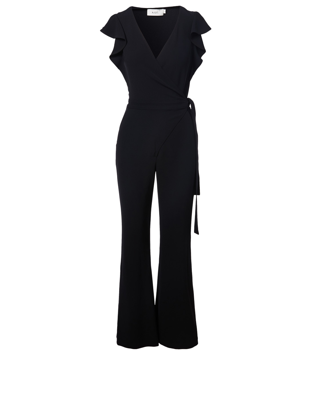 A.L.C. Wilder Wrap Jumpsuit Women's Blue
