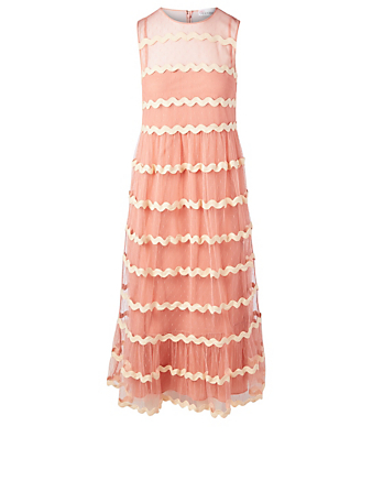 RED VALENTINO Point D'Esprit Tulle Dress Womens Pink